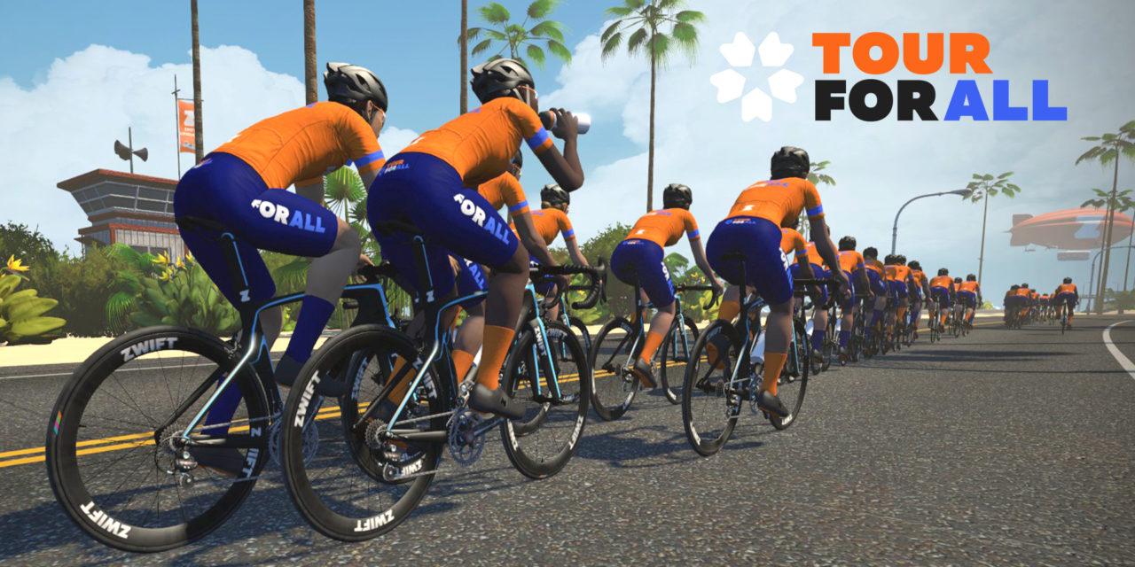 Zwift – Tour For All – Les courses Vélo