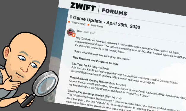 Zwift – Mise a jour Mai 2020