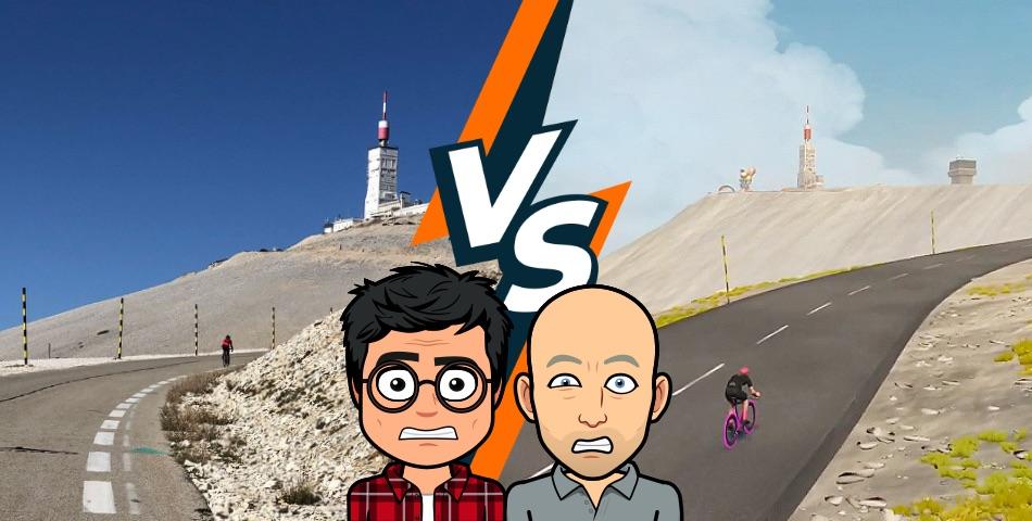 Ventoux Climbs : IRL vs. Zwift Comparison