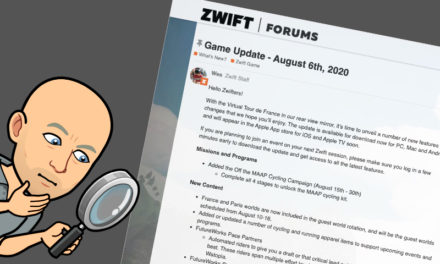Zwift – La Mise à Jour d'Aout 2020