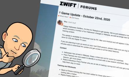 Zwift – La mise à jour de novembre 2020