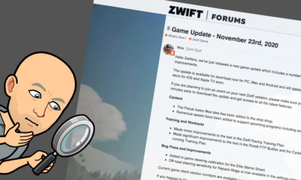 Zwift – La mise à jour de décembre 2020