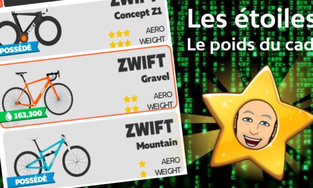 Zwift – Les étoiles : Partie 1 – Le poids du cadre